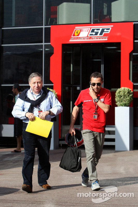 Jean Todt with his son Nicolas Todt, Manager of Felipe Massa