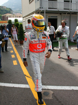 Lewis Hamilton, McLaren Mercedes walks back to his motorhome