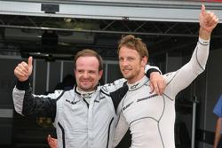 Jenson Button, Brawn GPgets pole position, Rubens Barrichello, Brawn GP 2nd