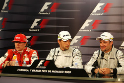 Kimi Raikkonen, Scuderia Ferrari, Jenson Button, Brawn GP, Rubens Barrichello, Brawn GP