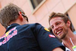 Jenson Button, Brawn GP y Sebastian Vettel, Red Bull Racing