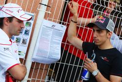 Timo Glock, Toyota F1 Team ve Sebastien Buemi, Scuderia Toro Rosso