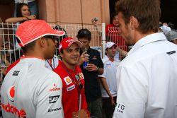 Lewis Hamilton, McLaren Mercedes y Felipe Massa, Scuderia Ferrari