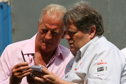 John Button, father of Jenson Button, Brawn GP and Norbert Haug, Mercedes, Motorsport chief