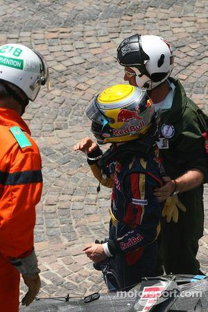Choque de Sebastien Buemi, Scuderia Toro Rosso