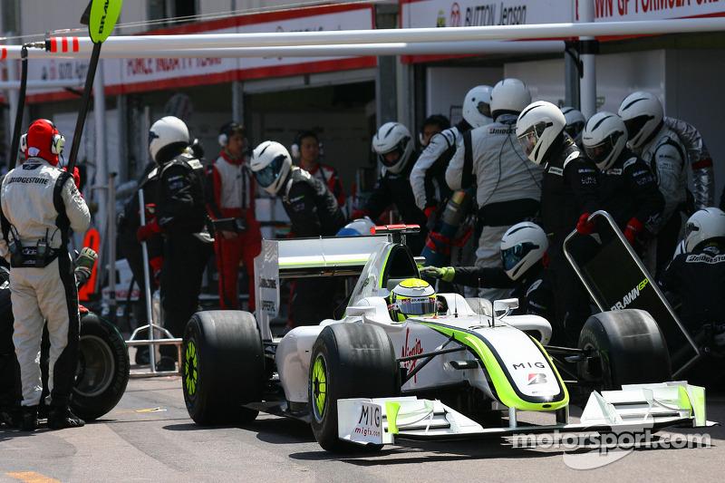 Pitstop of Jenson Button, Brawn GP
