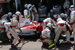 Timo Glock, Toyota F1 Team pit stop