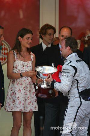 Podio: segundo lugar Rubens Barrichello, Brawn GP