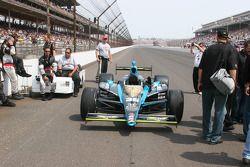 La voiture d'Alex Tagliani posée sur la grille pour le 93ème Indianapolis 500
