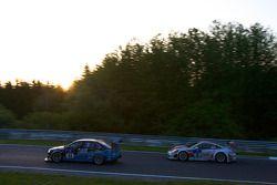 #11 KTN Audi RS4: Andy Booth, Timothy Martin, Stuart Owers, Lewis Scott, #3 Frikadelli Racing Team Porsche 997: Sabine Schmitz, Klaus Abbelen, Edgar Althoff, Kenneth Heyer