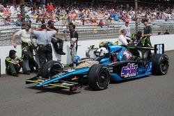 Coche de Alex Tagliani se encuentra en la red para la edición 93 de las 500 millas de Indianápolis