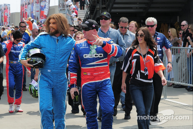 Paul Tracy and the Geico caveman