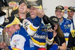 Victory lane: David Reutimann celebrates