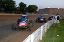 Dave Darland chases Jerry Coons Jr.