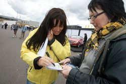 Jasmin Rubatto, pilote Seat et la petire amie de Timo Scheider, Audi Sport Team Abt