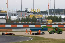Départ : Alexande Marsoin, SG Formula Dallara F308 Mercedes et Atte Mustonen, Motopark Academy Dallara F308 Mercedes abandonnent