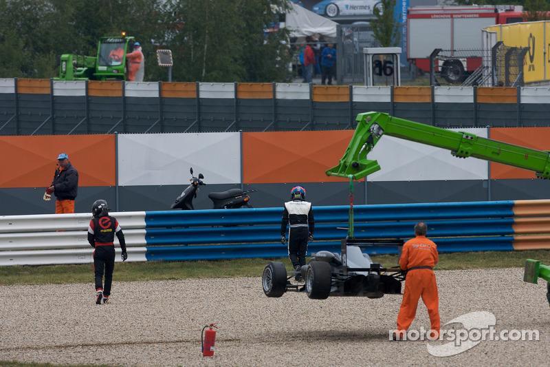 Start: Alexande Marsoin, SG Formula Dallara F308 Mercedes and Atte Mustonen, Motopark Academy Dallar