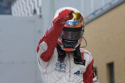 Race winner Jules Bianchi, ART Grand Prix Dallara F308 Mercedes celebrates