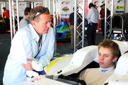 Martin Brundle talks with his son Alex Brundle