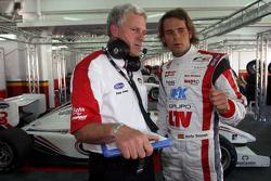 Andy Soucek talks with his engineer Paul Anthony