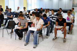 Drivers during the drivers briefing