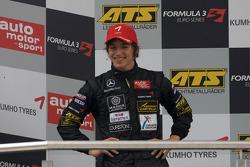 Podium: seconde place Roberto Merhi, Manor Motorsport Dallara F308 Mercedes
