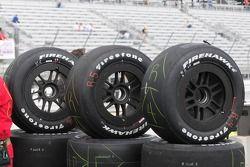Les pneus prêts pour les essais