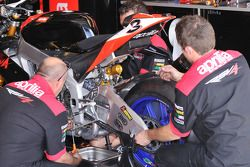 Aprilia Racing technicians at work