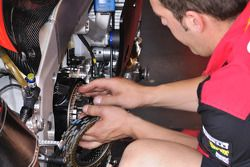 Aprilia Racing technician at work
