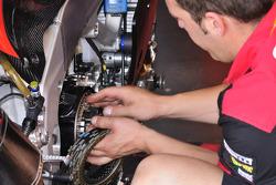 Aprilia Racing technician at work