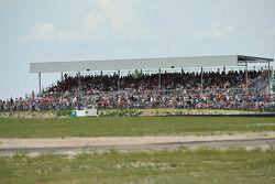 Fans enjoy the race action