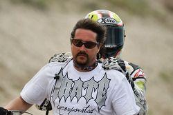 Carlos Checa takes a ride