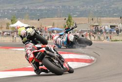 Leon Haslam in trouble at First Attitude