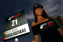 Grid girl for Kazim Vasiliauskas