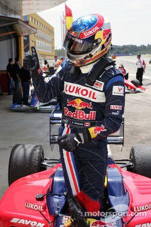 Race winner Robert Wickens in parc ferme