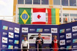 Podium: Carlos Iaconelli, Robert Wickens and Kazim Vasiliauskas