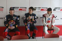 (L-R): Mirko Bortolotti, Robert Wickens and Andy Soucek