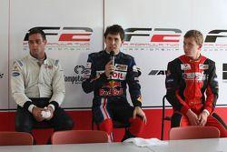 (L-R): Carlos Iaconelli, Robert Wickens and Kazim Vasiliauskas