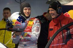 Mattias Ekström, Audi Sport Team Abt et Dr. Wolfgang Ullrich, chef des sports Audi