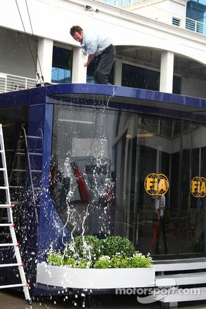 Water is brushed, FIA motorhome