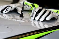gloves, Jenson Button, Brawn GP