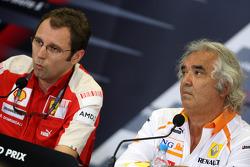 Stefano Domenicali, Scuderia Ferrari, Sporting Director, Flavio Briatore, Renault F1 Team, Team Chie