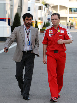 Mohammed Bin Sulayem with Stefano Domenicali, Scuderia Ferrari, Sporting Director
