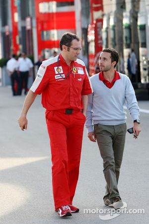 Stefano Domenicali, Scuderia Ferrari, Direktör ve Nicolas Todt, Manager, Felipe Massa