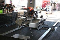 Des parties de la carosserie de la #24 Dreyer & Reinbold Racing de Mike Conway