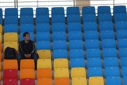 Un fan seul dans la tribune