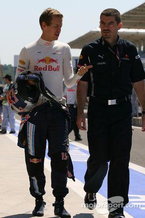 Sebastian Vettel, Red Bull Racing ve Guillaume Rocquelin, Red Bull Racing yarış mühendisi, Sebastian