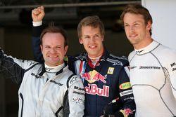 Sebastian Vettel, Red Bull Racing, Jenson Button, Brawn GP, Rubens Barrichello, Brawn GP