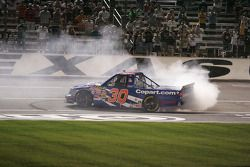 Burn out for Todd Bodine, Copart.com Toyota