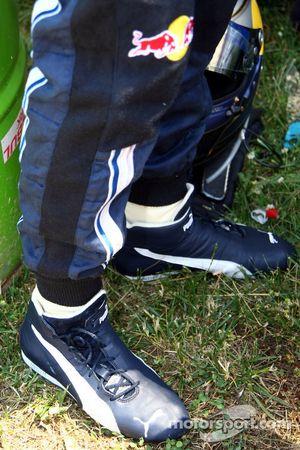 shoes, Sebastian Vettel, Red Bull Racing ve Christopherus coins in
